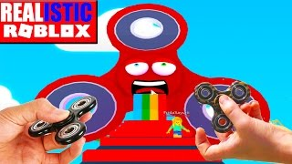 REALISTIC ROBLOX - ESCAPE THE FIDGET SPINNER OBBY IN ROBLOX! roblox fidget spinner obby