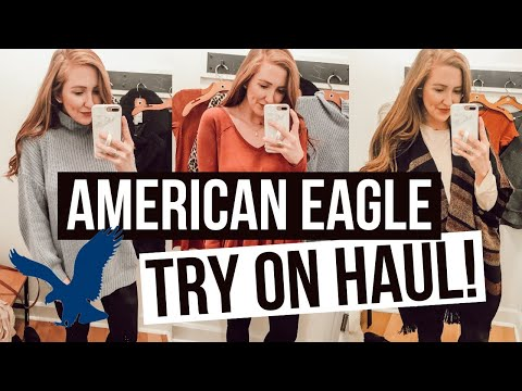 AMERICAN EAGLE HAUL! Fall Clothing Try On + Review | Moriah Robinson
