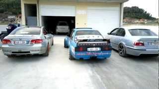 BMW M3 E92 vs BMW E30 Turbo vs BMW M5 E39 BURNOUT