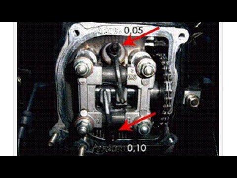 Регулировка клапанов на 4-х тактном скутере.