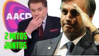 Bolsonaro e silvio santos no teleton MUDA BRASIL 🇧🇷