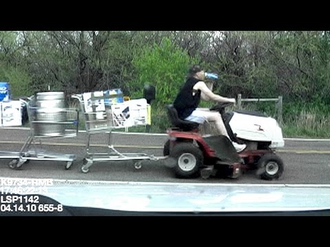 Steve's lawn mower DUI with 10 stolen shopping carts