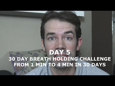 30 DAY APNEA CHALLENGE DAY 5 - HOLD YOUR BREATH FOR 4 MIN IN 30 DAYS