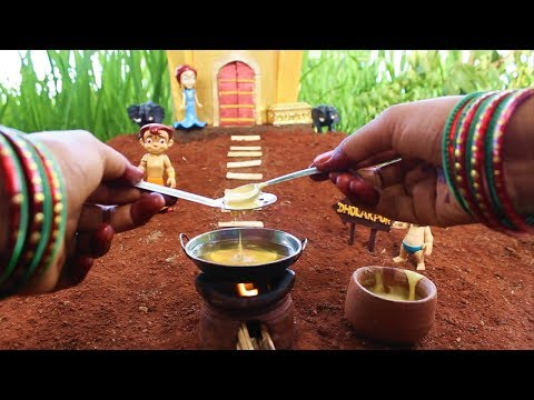 Miniature Ladoo | Ladoo Recipe | Miniature Cooking #25 | Chota Bheem | Dholakpur | mini foodkey