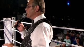 Roy Shaw - Unlicensed Boxing Legend Presenting Championship Belts