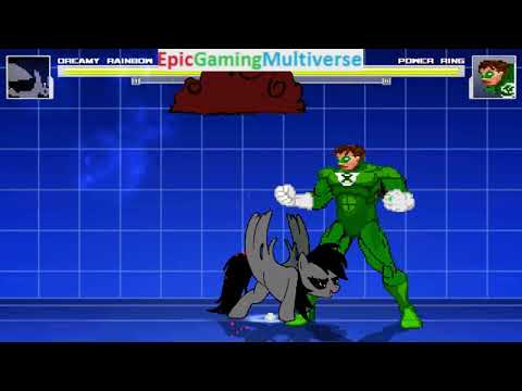 Power Ring VS Dreamy Rainbow On The Hardest Difficulty In A MUGEN Match / Battle / Fight