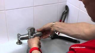 Changement robinet de baignoire
