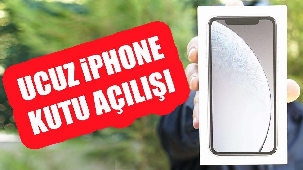 DÜNYANIN EN UCUZ iPHONE'U(!) XR KUTU AÇILIŞI (En Az 7.500 TL!)