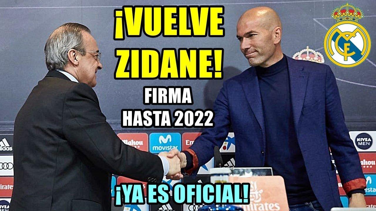 Oficial: Zidane regresa al Real Madrid