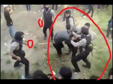 konser ndx satu orang vs 5 polisi hancurlah ni orang di gebukin