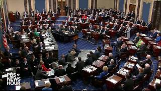 WATCH: Senate votes to acquit Trump on abuse of power charge | Trump impeachment trial