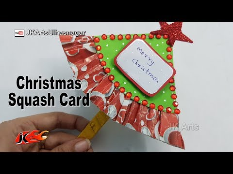 DIY Christmas Squash card - JK Arts 1516