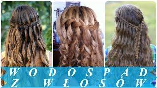 Nowoczesne fryzury wodospad dla kobiet