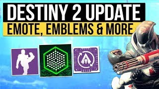 Destiny 2 | Broken Emote Nerf? Mystery Emblems, Sparrow Racing & New PC Gameplay Trailer!