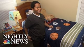 After Growing Up Homeless, Boy Is Over The Moon For His New Bed | NBC Nightly News