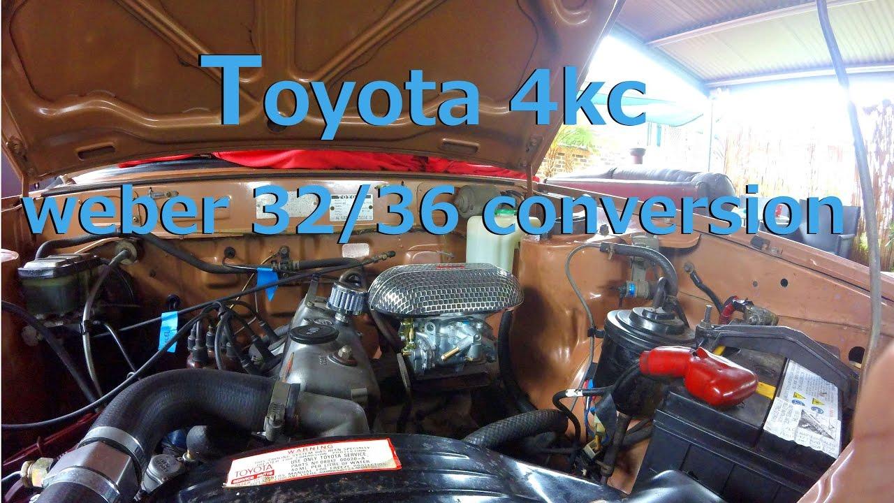 toyota 4kc weber 32/36 carbi conversion