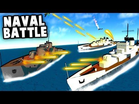 HUGE Naval BATTLE! Defending Transport Ships With Epic Destroyers! (Ravenfield Best Mods)