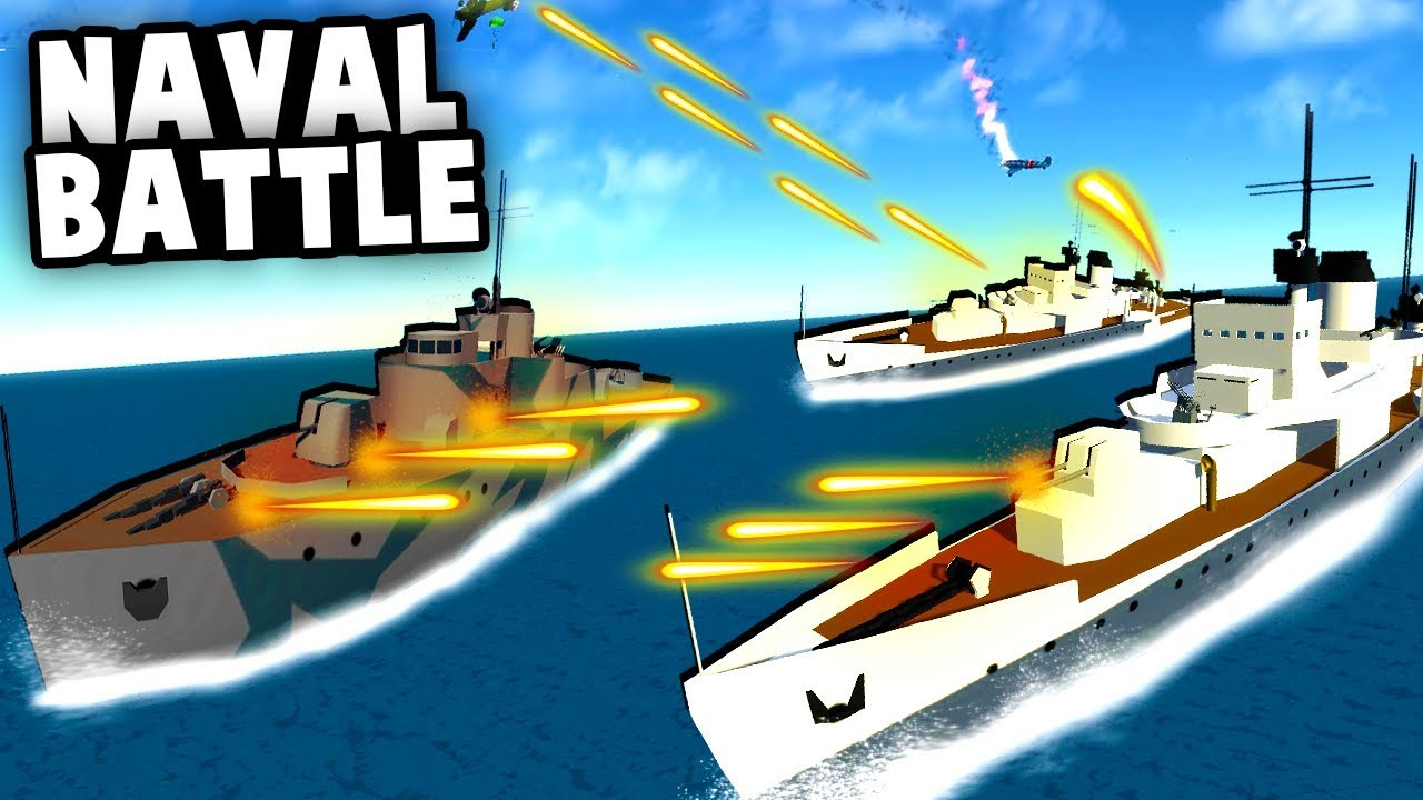 HUGE Naval BATTLE! Defending Transport Ships With Epic Destroyers!  (Ravenfield Best Mods)