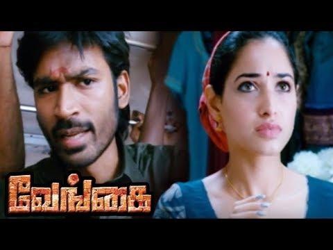 Venghai | Vengai Tamil Full Movie Scenes | Tamanna Intro | Dhanush Meets Tamanna | Ganja Karuppu