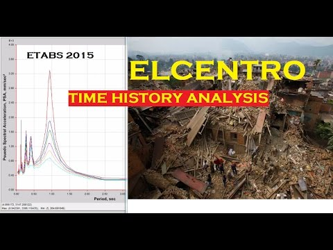 Etabs 2015 tutorial 6 | Time History Analysis | Using IS Codes