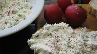 Творожная паста с редисом и зеленым луком. Рецепт творожной пасты