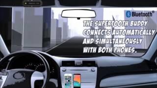 supertooth buddy bluetooth v2 1 handsfree visor car kit