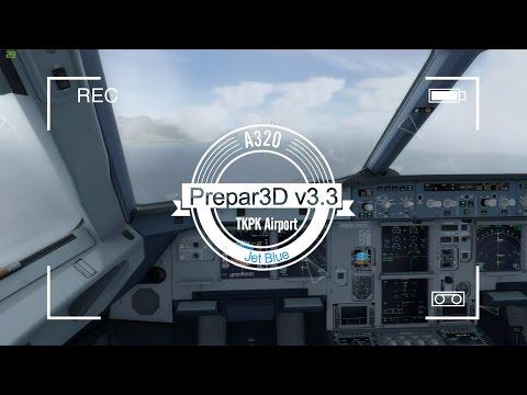 A320 JetBlue Landing at Saint Kitts TKPK [P3D HD]