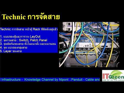 Technic การจัดสายในห้อง Data Center