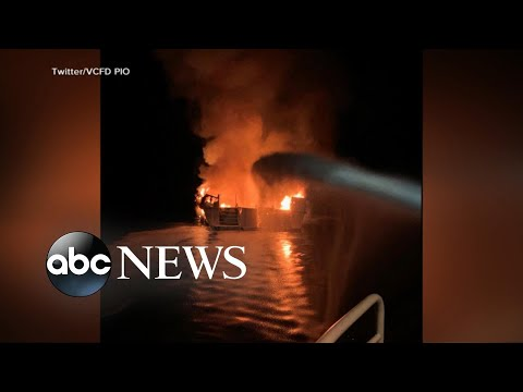 34 People Missing After Boat Catches Fire | ABC News