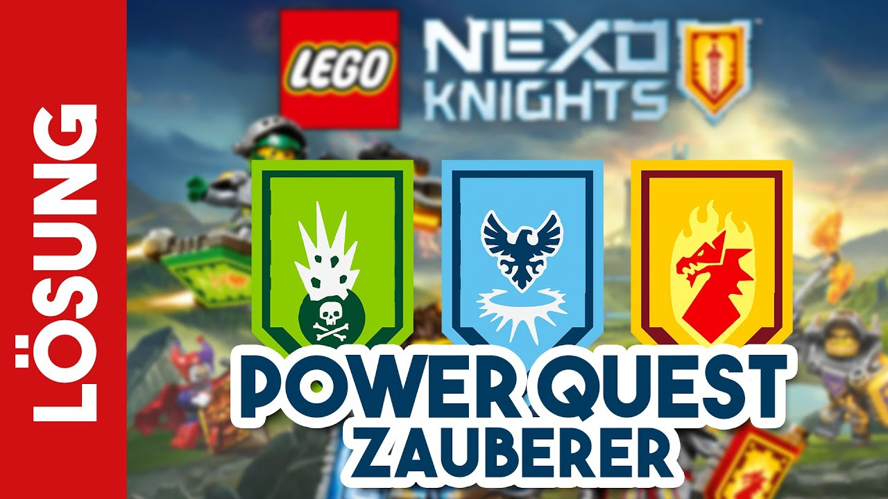 Alle Nexo Power Schilder Lego Nexo Knight Quest 1 Zauberer