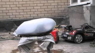 Ремонт фары-покрытие лаком(стекло фары)-5