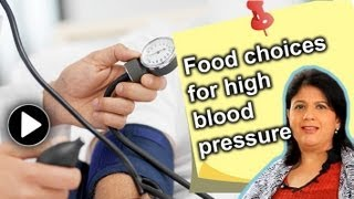 Diet for people with high blood pressure