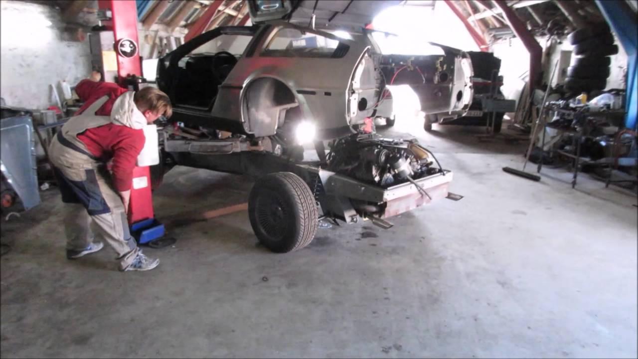 DeLorean VIN991 frame off - YouTube