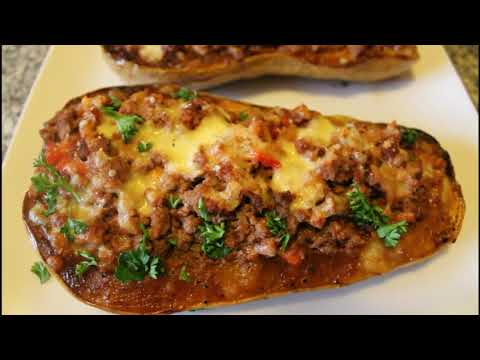 Stuffed Butternut Squash with Minced Beef