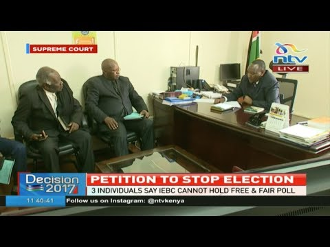 Petition to stop elections: Three individuals say IEBC cannot hold credible polls