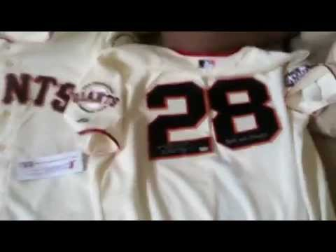 sports shoes 09304 acf3e Buster Posey Signed Authentic San Francisco Giants 2012 World Series MLB  Baseball Jersey