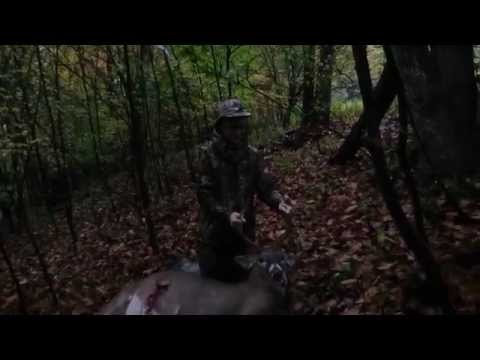 See A Rainy Day Kid's First Buck with Rage Broadhead