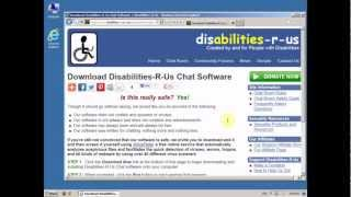 Installing Disabilities-R-Us Chat Software with Internet Explorer