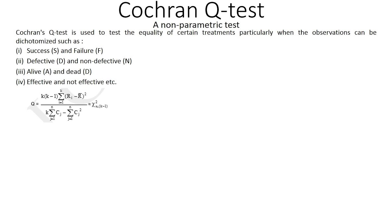 Cochran Q test 1 - YouTube