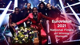 Eurovision 2021 - National Finals: All Winning Moments