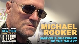 Michael Rooker proclaims he's Team Yondu on Marvel LIVE!