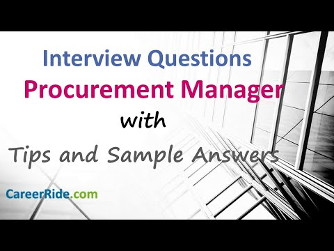 Procurement Manager Interview Questions and Answers - Procurement Officer Interview Questions