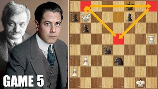 End of an Era? || Capablanca vs Lasker || WCC Game 5 (1921)