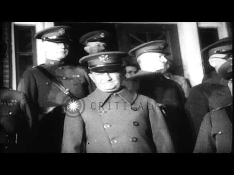 Court martial of General William Mitchell in United States. HD Stock Footage