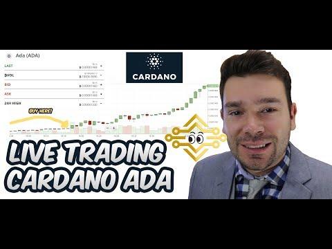 Cardano Ada - Live Trading - Huge Pop Upward 1000 Satoshi!