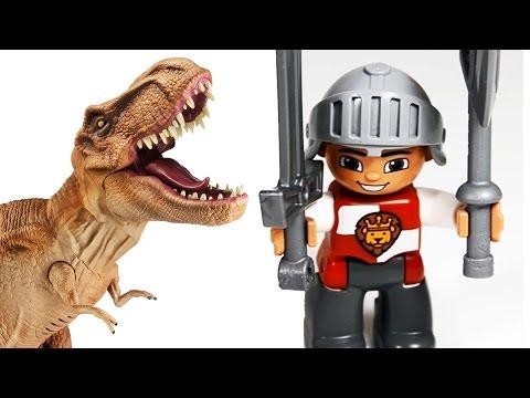 ДИНОЗАВРЫ. Динозавры, Тиранозавр, Дракон, Рыцари ЛЕГО. Мультик про динозавров 1-2 серии. Игрушки ТВ