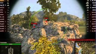 World of Tanks Хитрая тактика наступления в Рудниках. Запись видео игры(Все было сделано классно, вся начавшаяся тактика танкового боя давала надежду на захват базы. Но в последни..., 2013-05-04T08:05:19.000Z)