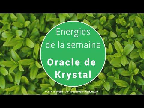 Energies 16 au 22 octobre 2017 - Oracle de Krystal