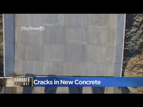 Small Cracks Found In New Oroville Dam Spillway Concrete