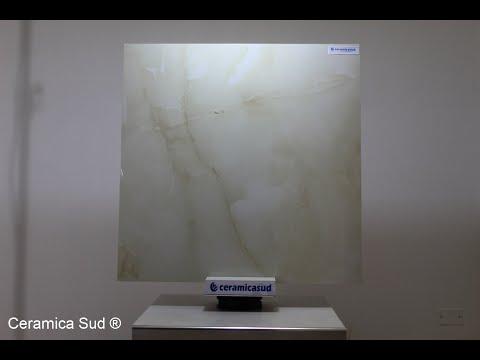 Pavimento da interno effetto Onice Gold lucido 80 x 80 cm. in Gres Porcellanato Rettificato